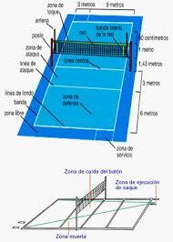 cuanto mide una cancha de voleibol