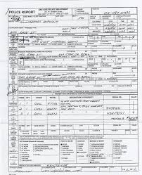 blank police report form