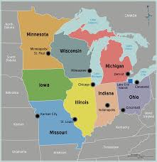 map of midwest us