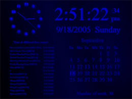 digital clock screensavers