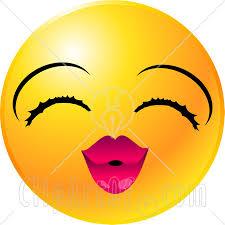 Μια εικόνα για τον αποπάνω - Σελίδα 6 22134-Clipart-Illustration-Of-A-Yellow-Emoticon-Face-Lady-With-Eyelashes-And-Pink-Lips-Puckering-Up-For-A-Kiss