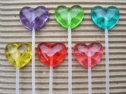 clear lollipops