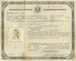 certificate of citizenship