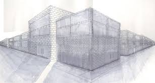 drawing of building