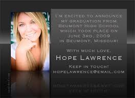 graduation invitation wordings