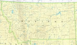 state map of montana