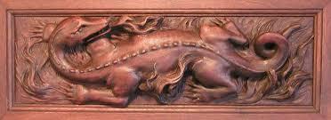 dragon carved