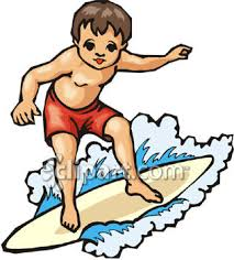 clipart surfing