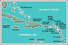 nevis west indies map