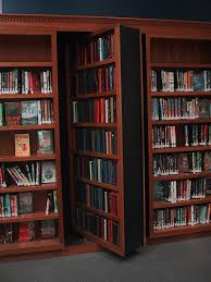 bookshelf with door