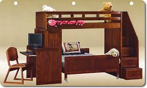 loft bed with staircase