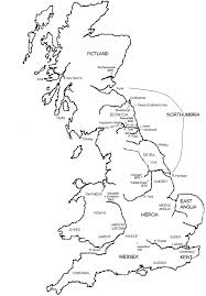 clear map of england
