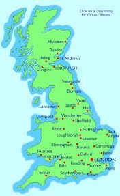 map of british universities