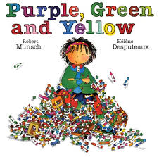 purple green and yellow