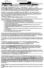 lease agreement documents