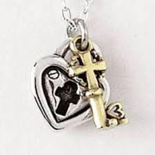 lock and key pendant