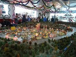 christmas village train