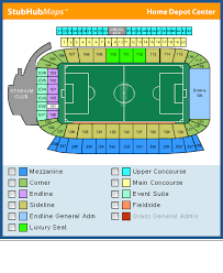 home depot center map