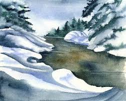 painting of snow