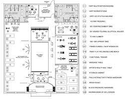 health club layout