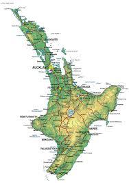 north island map nz