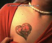 heart skull tattoos
