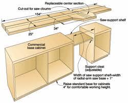 radial arm saw bench