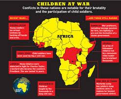 child soldier map