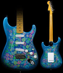fender blue flower