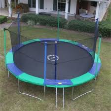 12 trampolines