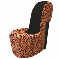 tiger print chair