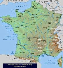 france map in french