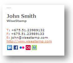 e mail signature template