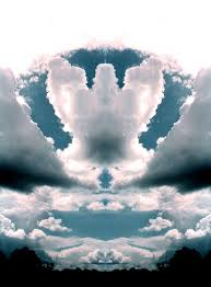 pictures of angels in clouds