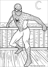 coloring book spiderman