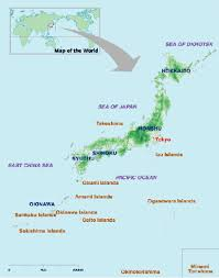 map of japan for kids