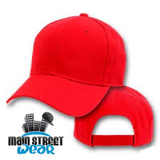 plain red baseball cap