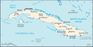 map of cuba area