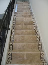 ceramic tiles on stairs