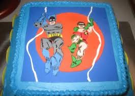 batman and robin cake