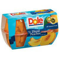 dole peaches