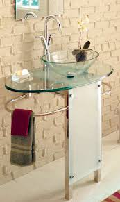 glass pedestal sinks