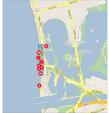 mission beach map
