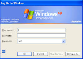 windows xp log on