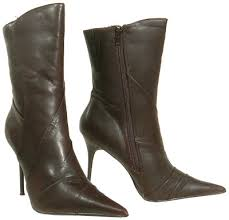brown stiletto boots