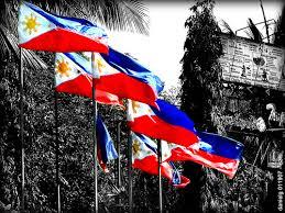 philippine flag waving