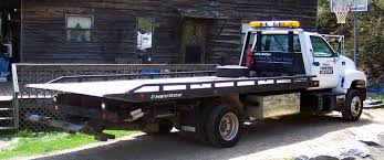flatbed tow truck