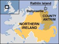 rathlin island map