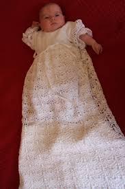 crochet christening gown