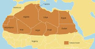 map sahara desert